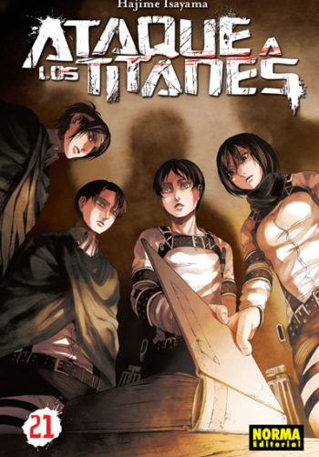 Ataque a los Titanes manga tomo 21