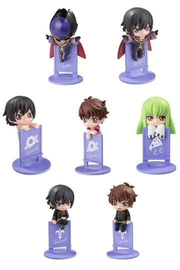 Code Geass Lelouch of the Rebellion Ochatomo Series Set de 7 Figuras On The Glass 01