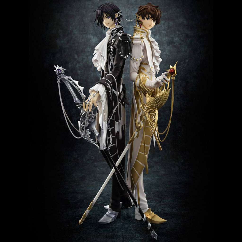 Code Geass Lelouch of the Rebellion Serie G.E.M. Figura Clamp Works Lelouch y Suzaku 02
