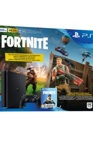 Consola Sony PS4 500GB negra + bono Fortnite Portada