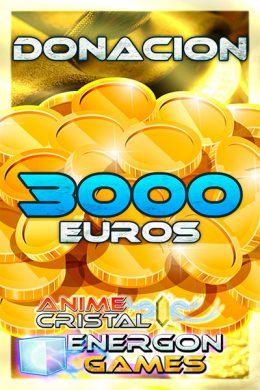 Donaciones de 3000 euros