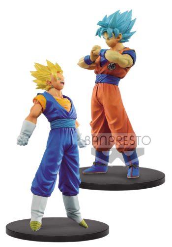 Dragon Ball Super Warriors Figuras DXF SSJ Vegetto y SSJ Blue Goku
