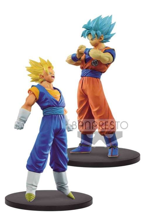 Dragon Ball Super Warriors Figuras DXF SSJ Vegetto y SSJ Blue Goku