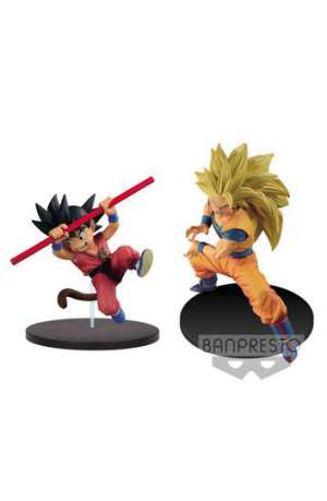 Dragon Ball Z Figuras Joven Son Goku y Super Saiyan 3 Goku 01