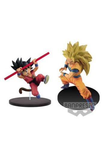 Dragon Ball Z Figuras Joven Son Goku y Super Saiyan 3 Goku 01