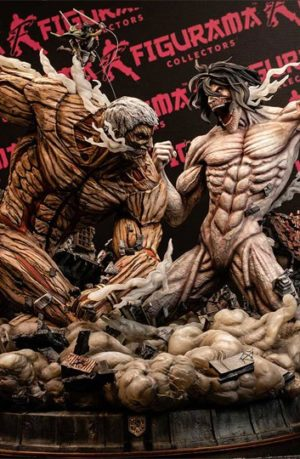 Estatua Attack on Titan Elite Exclusive Eren vs Armored Titan