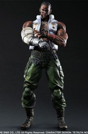Figura Final Fantasy VII Advent Children Play Arts Kai Barret 28 cm