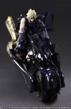 Figura Final Fantasy VII Advent Children Play Arts Kai Cloud Strife y Fenrir 28 cm