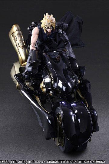Figura Final Fantasy VII Advent Children Play Arts Kai Cloud Strife y Fenrir 28 cm