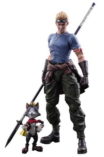 Figuras Final Fantasy VII Advent Children Cid Highwind y Cait Sith 9 - 27 cm