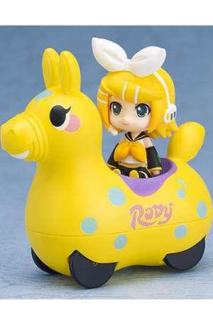 Hatsune Miku x Cute Rody Vehículo De Fricción con Minifigura Kagamine Rin 01