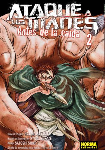 Ataque a los Titanes Antes de la Caida manga Tomo 2
