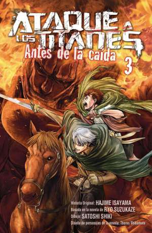 Ataque a los Titanes Antes de la Caida manga Tomo 3