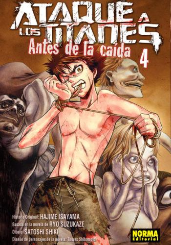 Ataque a los Titanes Antes de la Caida manga Tomo 4