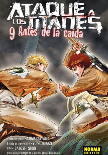 Ataque a los Titanes Antes de la Caida manga Tomo 9