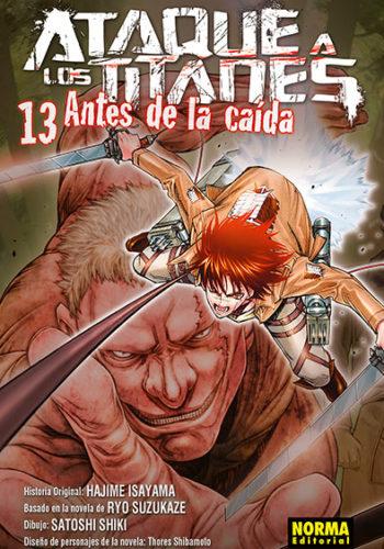 Ataque a los Titanes Antes de la Caida manga Tomo 13