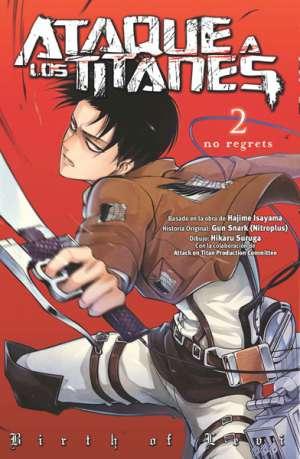 Ataque a los Titanes No Regrets manga Tomo 2