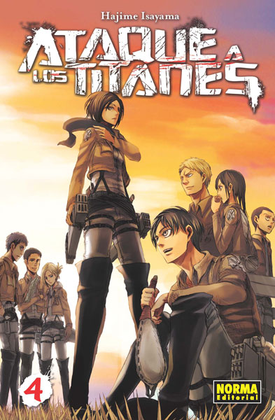 Ataque a los Titanes manga tomo 4