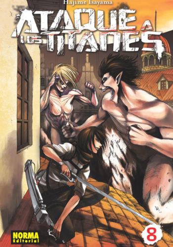 Ataque a los Titanes manga tomo 8