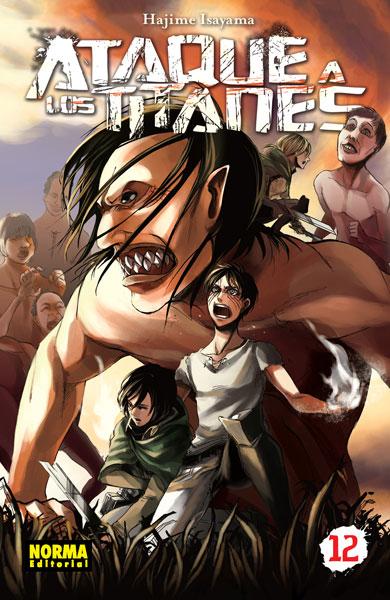 Ataque a los Titanes manga tomo 12