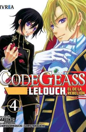 Code Geass Lelouch El De La Rebelion Manga Tomo 4