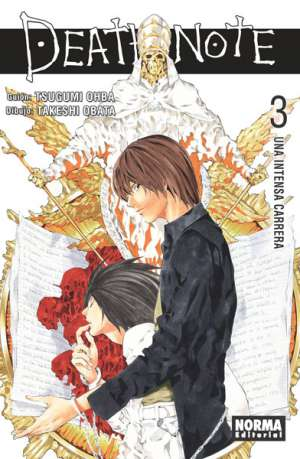 Death Note manga tomo 3 Una Intensa Carrera