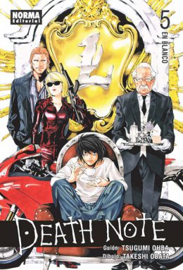 Death Note manga tomo 5 En Blanco