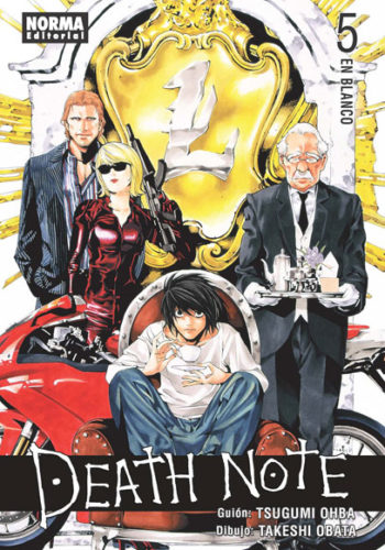 Death Note manga tomo 5 En Blanco