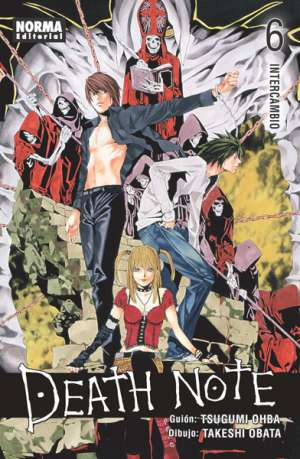 Death Note manga tomo 6 Intercambio