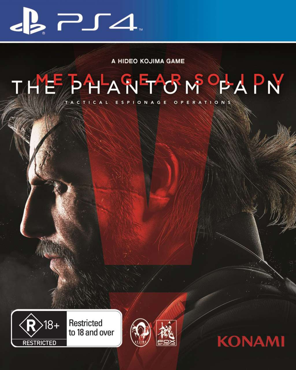 Metal Gear Solid V The Phantom Pain PS4 Portada