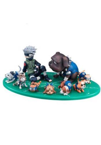Naruto Serie GEM Figura Kakashi Ninken Ninja Dog Set 01