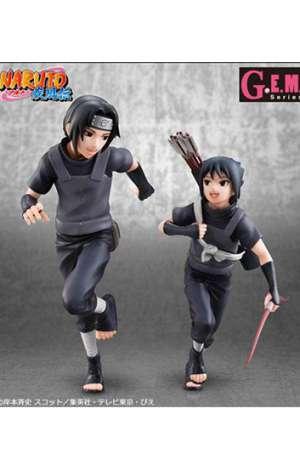Naruto Shippuden Serie GEM Figura Uchiha Itachi Sasuke 01