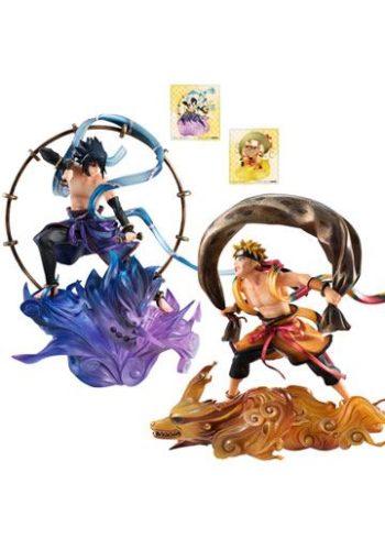 Naruto Shippuden Serie GEM Remix Figura Sasuke Uchiha Raijin Uzumaki Fujin 01