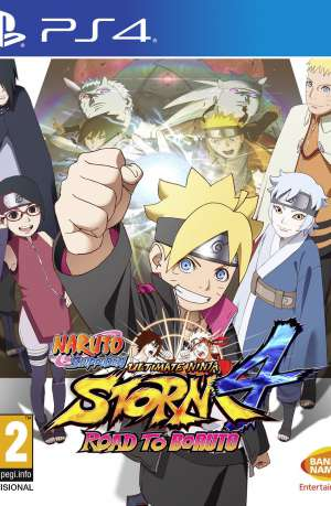 Naruto Shippuden Ultimate Ninja Storm 4 Road to Boruto PS4 Portada