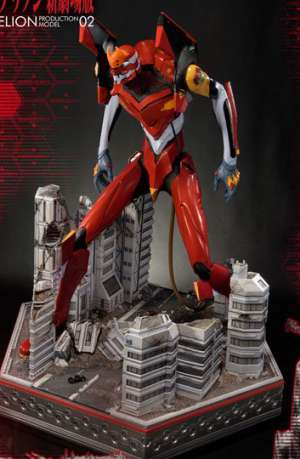 Neon Genesis Evangelion Estatua EVA Production Model-02 74 cm 01