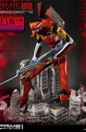 Neon Genesis Evangelion Surtido de 3 Estatuas EVA Production Model-02 74 cm 01