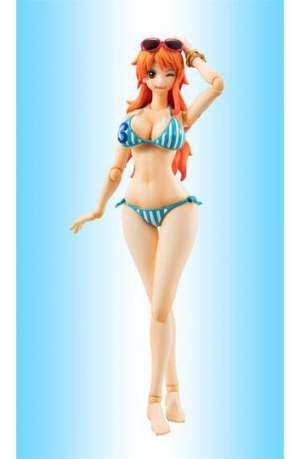 One Piece Figura Action Heroes Nami Summer Vacation 01