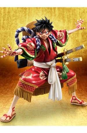 One Piece Figura Excellent Model P.O.P. Monkey D. Luffy Kabuki Edition 21 cm