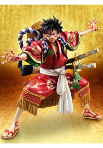 One Piece Figura Excellent Model P.O.P. Monkey D. Luffy Kabuki Edition 21 cm