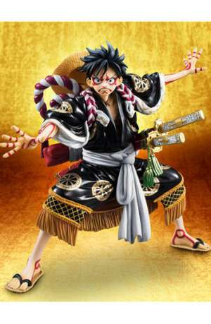 One Piece Figura Excellent Model POP Monkey D Luffy Kabuki Edicion Black 01