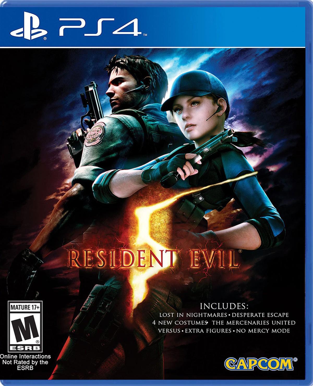 Resident Evil 5 HD PS4 Portada