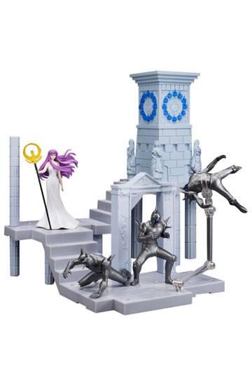 Saint Seiya Figura D.D.P. Diosa Atena mas Soldados y Reloj de Fuego del Santuario 01