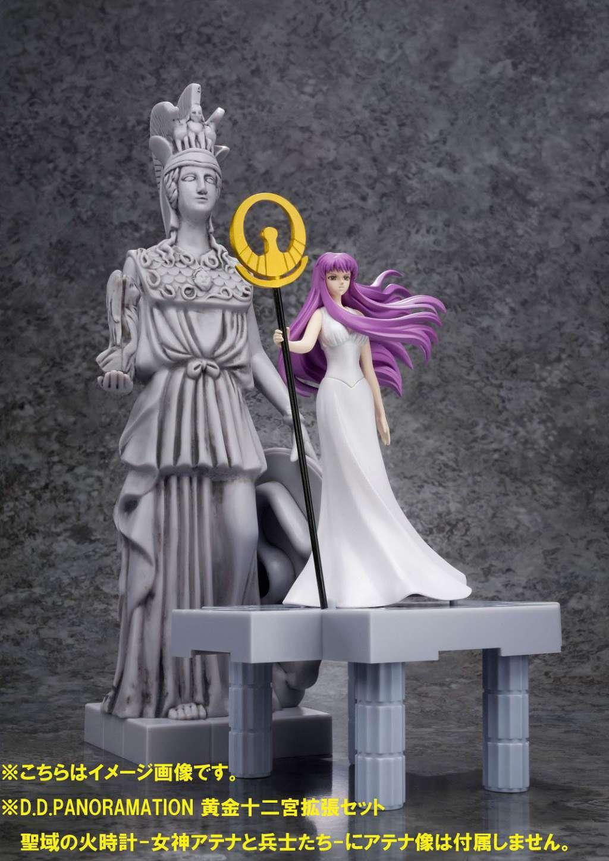 Saint Seiya Figura D.D.P. Diosa Atena mas Soldados y Reloj de Fuego del Santuario 06