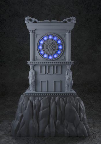 Saint Seiya Myth Cloth Torre del Reloj Fuego Santuario Replica con Luz 26 cm