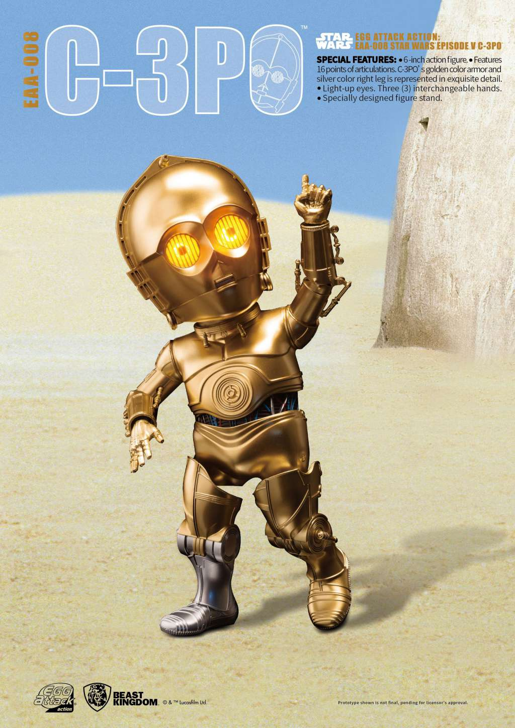 Star Wars Egg Attack Figura C-3PO Episodio V 02