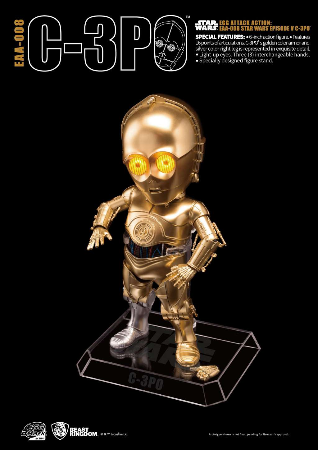 Star Wars Egg Attack Figura C-3PO Episodio V 03
