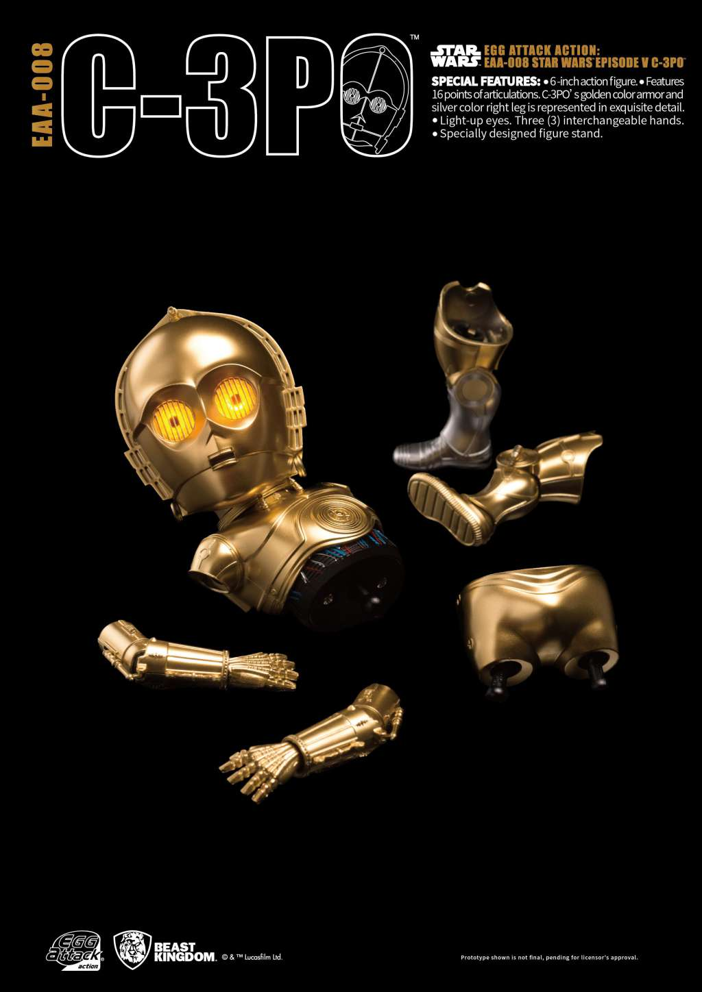 Star Wars Egg Attack Figura C-3PO Episodio V 04