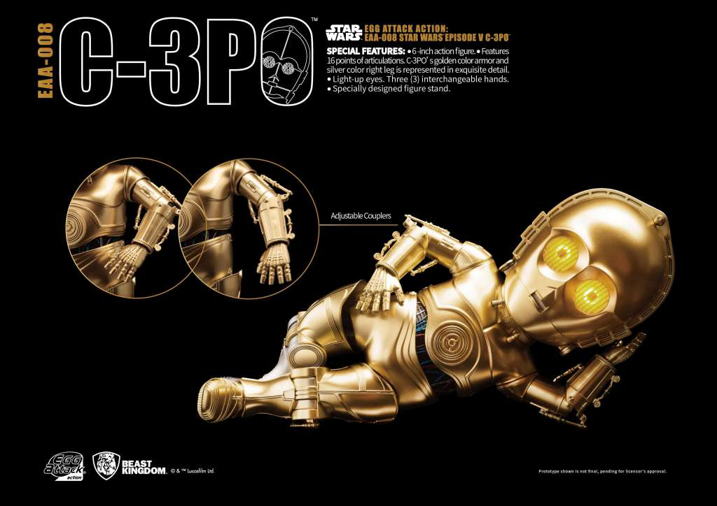 Star Wars Egg Attack Figura C-3PO Episodio V 05