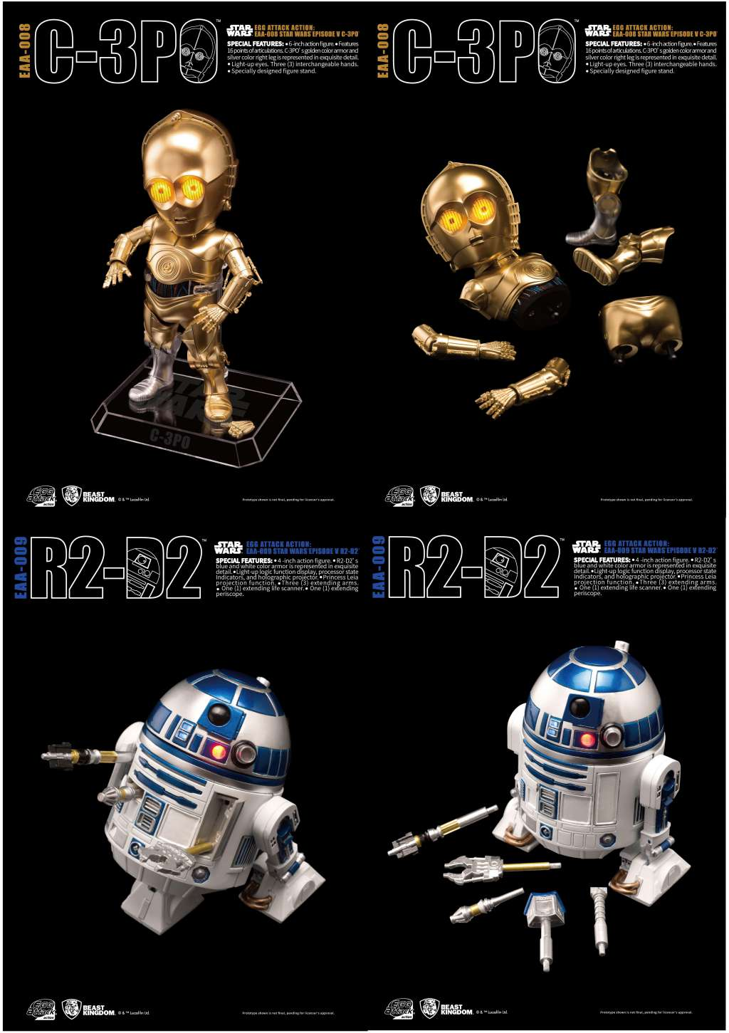 Star Wars Egg Attack Pack de 2 Figuras R2-D2- C-3PO-Episodio-V 02