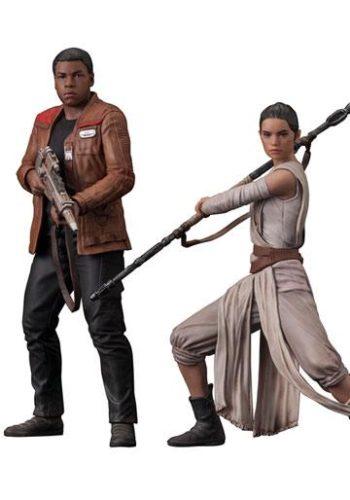 Star Wars Episodio VII Pack de 2 Figuras ARTFX Rey Finn 01